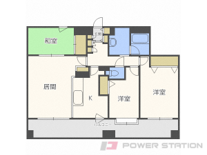 札幌市中央区北4条西20丁目1分譲リースマンション間取図面