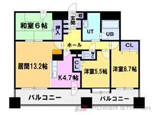 西18丁目3LDKマンション図面