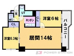 札幌市中央区北4条西17丁目1賃貸マンション間取図面