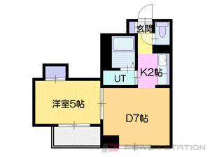 札幌市中央区北6条西13丁目0分譲リースマンション間取図面