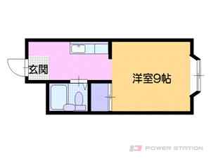 桑園1Rマンション図面