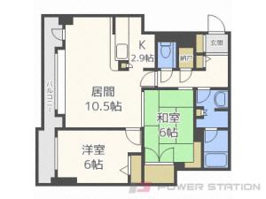 西11丁目2LDK分譲リースマンション図面
