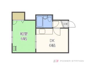 さっぽろ1DKマンション図面