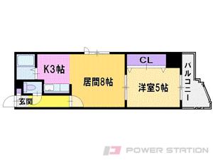 札幌市中央区北6条西10丁目0賃貸マンション間取図面