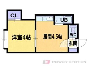 札幌市中央区北2条東1丁目0賃貸マンション間取図面