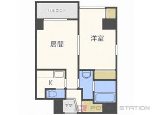 札幌市中央区北1条東2丁目0賃貸マンション間取図面