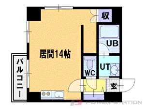 札幌市中央区北3条東2丁目1賃貸マンション間取図面
