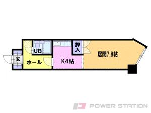 札幌市中央区北3条東7丁目1賃貸マンション間取図面