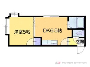 札幌市中央区大通東8丁目0賃貸アパート間取図面
