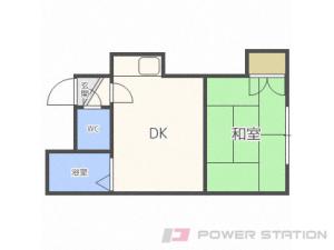 札幌市中央区北2条東12丁目0賃貸アパート間取図面