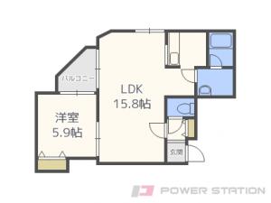 札幌市中央区南10条西6丁目1賃貸マンション間取図面