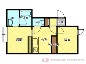 札幌市中央区宮の森3条10丁目0賃貸アパート間取図面