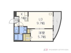 札幌市中央区南4条東5丁目0賃貸マンション間取図面