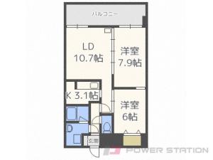 札幌市中央区南6条東3丁目1賃貸マンション間取図面