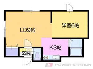 札幌市中央区宮の森1条10丁目0賃貸アパート間取図面