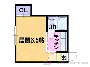 西28丁目1Rアパート図面