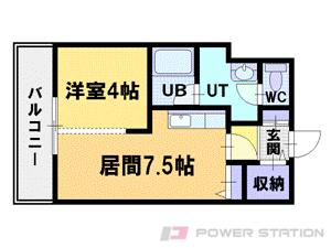 札幌市中央区北2条西28丁目0賃貸マンション間取図面