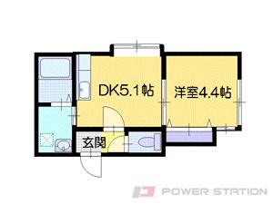 札幌市中央区北4条西26丁目0賃貸アパート間取図面