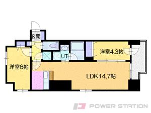 バスセンター前2LDKマンション図面