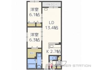 札幌市豊平区豊平5条10丁目0賃貸マンション間取図面