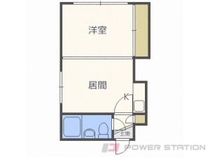 札幌市中央区北1条西25丁目0賃貸アパート間取図面