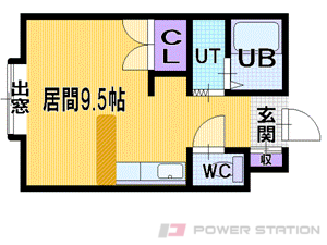 札幌市中央区北4条西24丁目0賃貸アパート間取図面