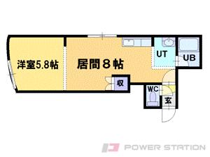 札幌市中央区北4条西23丁目0賃貸アパート間取図面