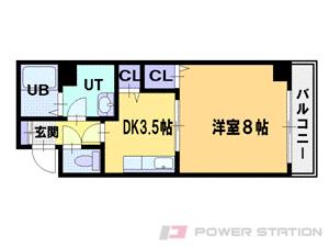 札幌市中央区北3条西21丁目0賃貸マンション間取図面