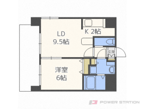 札幌市中央区北2条西24丁目0賃貸マンション間取図面