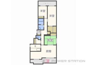 札幌市中央区北2条西24丁目0分譲リースマンション間取図面