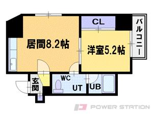 札幌市中央区北1条西22丁目1賃貸マンション間取図面