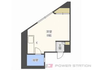 札幌市中央区北1条西21丁目0賃貸マンション間取図面
