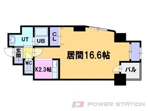 札幌市中央区北3条西17丁目1賃貸マンション間取図面