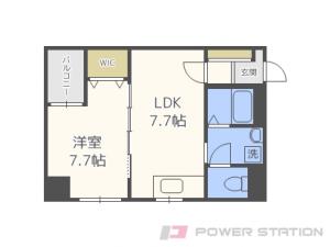 西18丁目1LDK分譲リースマンション図面
