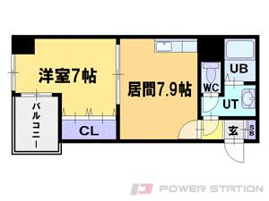 札幌市中央区北1条西16丁目0賃貸マンション間取図面