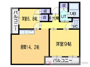 札幌市中央区南3条東3丁目1賃貸マンション間取図面