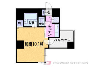大通1R分譲リースマンション図面