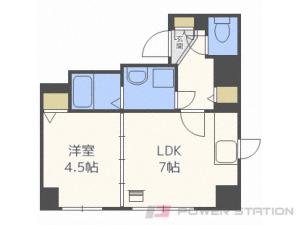 札幌市中央区南1条西9丁目1賃貸マンション間取図面