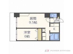 札幌市中央区南1条東2丁目0賃貸マンション間取図面