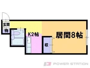 札幌市中央区南2条東2丁目0賃貸マンション間取図面