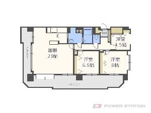 札幌市中央区南2条東5丁目0分譲リースマンション間取図面