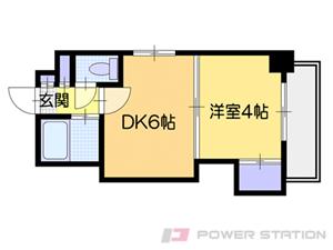 札幌市中央区南3条東4丁目0賃貸マンション間取図面