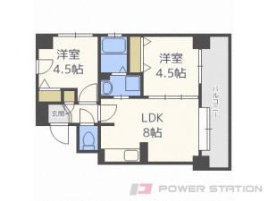 札幌市中央区大通東8丁目1賃貸マンション間取図面