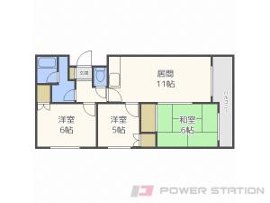 札幌市中央区宮の森3条12丁目1賃貸マンション間取図面