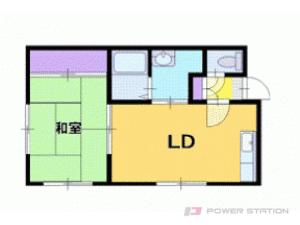 西28丁目1DKアパート図面