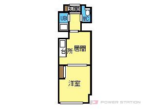 西28丁目1DKマンション図面