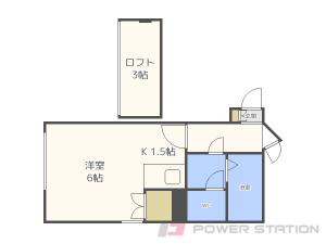 円山公園1Rアパート図面
