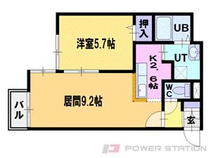 札幌市中央区南2条西26丁目0賃貸マンション間取図面