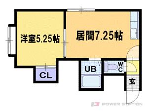 札幌市中央区北1条西22丁目0賃貸アパート間取図面