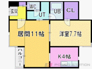 札幌市中央区南2条西25丁目0賃貸マンション間取図面